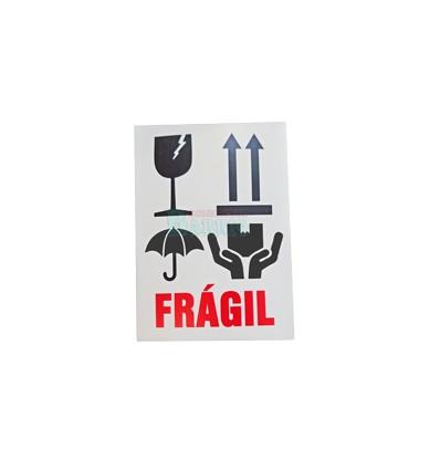 Etiquetas Adhesivas Muy Frágil copa flecha y lluvia