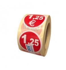 Etiquetas para precios 1,25€