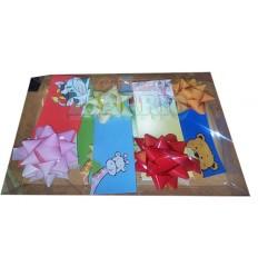 Caja 12 tarjetas infantiles con moño.