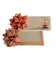 Tarjeta regalo con moño color Naranja
