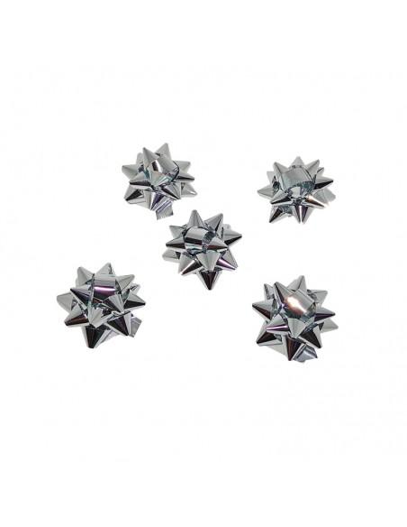 estrellas pequeñas adhesivas color  plata.