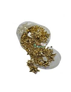 Moños para regalos pequeños de 5mm color oro brillo