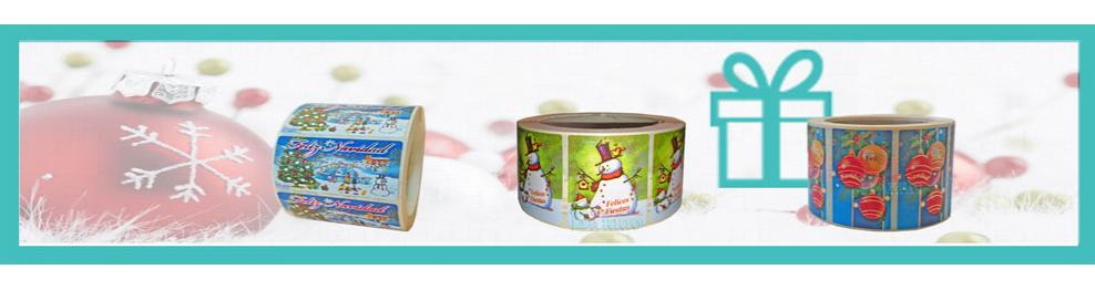 Etiquetas Adhesivas para Navidad