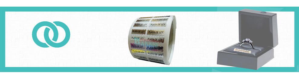 Etiquetas adhesivas para joyería | Envíos en 24/48 horas
